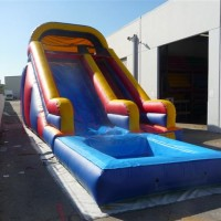 Inflatable Slide with Pool