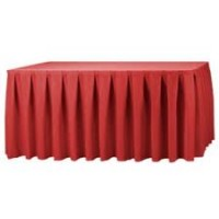 Red Pleated Table Skirting