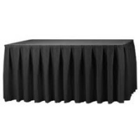 Black Pleated Table Skirting