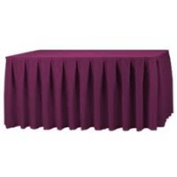 Burgundy Pleated Table Skirting