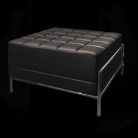 Black Metro Lounge Ottoman