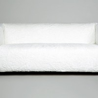 White Fluff Covered Couch