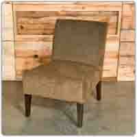 Milan Slipper Chair Brown