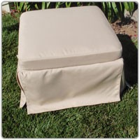 Calistoga Ottoman With Cushion&Skirt