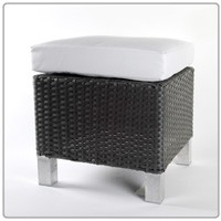 Panama Collection Ottoman With Cushion