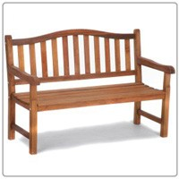 4'  Wooden Arch Back Bench