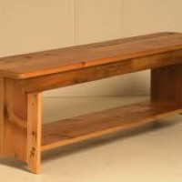 1' x 8' Wood Farm Bench