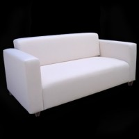 White Love Seat