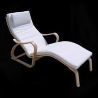 Birch Wood Chaise Lounge