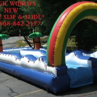Giant Slip and Slide with Pool