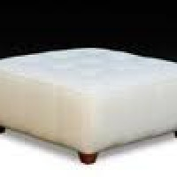 White Square Ottoman