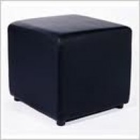 Black Square Ottoman