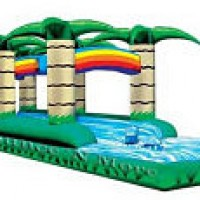 Wet Dual Lane Tropical Slip and Slide