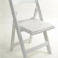 White Padded Chair