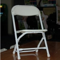 White Kids Folding Chair