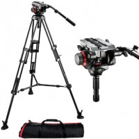 Manfrotto 504HD Fluid Video Head with 546B Pro Video Tripod