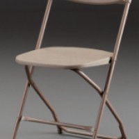 Bone Samsonite Folding Chair