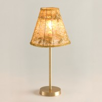 Gold Beaded Lamp