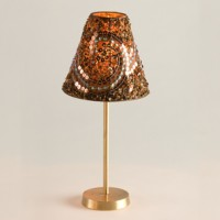 Chocolate Sequins Beaded Lamp