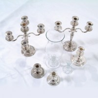 3 Arm Silver Candelabra Candlestick