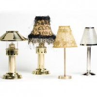 Gold Beaded Table Lamp