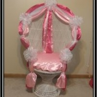 Decorated Shower Chair