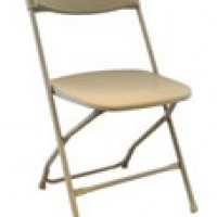 Tan Plastic Folding Chair