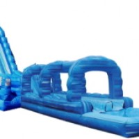 22' Dual Lane Blue Crush Water Slide