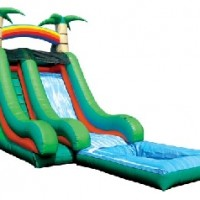 18' Tropical Super Splash Down Water Slide