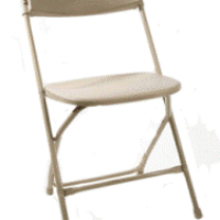 Commercial Plastic Beige Chairs