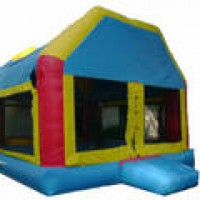 Light Colored Fun House Moonwalk