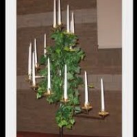 15 Branch Brass Standing Candleabras