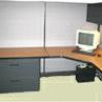 67&quot; H Panels AO2 Clone Cherry Workstation