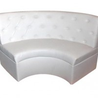 White Leather Tufted Booth