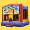 Aladdin and Jasmine Bounce House