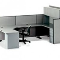 Grey U Workstations
