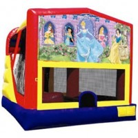 Disney Princess Themed Combo Bounce House