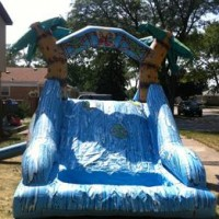10' Tall Tropical Inflatable Water Slide