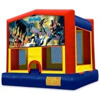 Large Batman Themed Bounce House