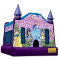 Large Disney Princess Themed Bounce House