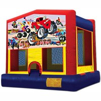 X-Large Monster Truck Themed Bounce House